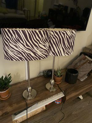 Night stand / side table lamps (zebra) for Sale in Milpitas, CA