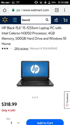 HP notebook 15- F233wm for Sale in Las Vegas, NV