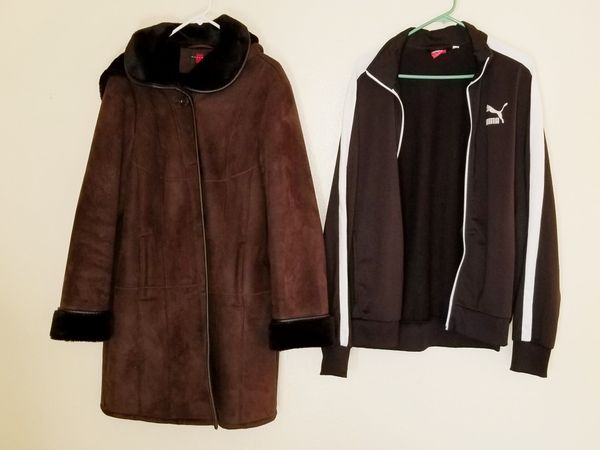 $55 , 2 Jackets! 4 moths old Swade outside/Plus lining Womans XL/PUMA XL Jacket! BOTH ARE IN EXCELLENT CONDITION!! BOTH GO TOGETHER! Wow !