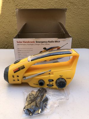 Safe-T Solar Hand Crank Emergency Radio, Flashlight, Charger for Sale in Los Angeles, CA