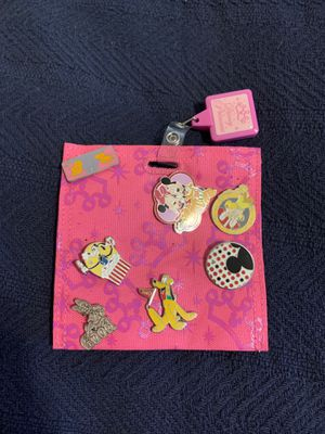 Disney pin collection and lanyard - set of 7 for Sale in Cary, NC