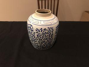 Blue white porcelain vase for Sale in Jonesboro, AR