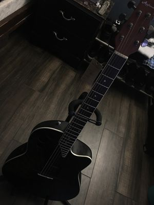 Ovation Applause 6 String Acoustic-Electric Guitar Black for Sale in Montclair, CA