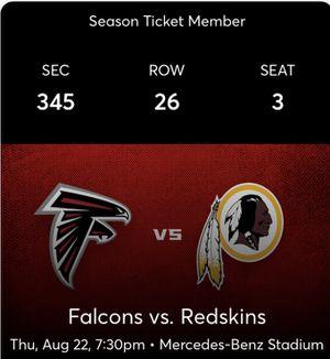 Falcons Vs Redskins for Sale in Lilburn, GA