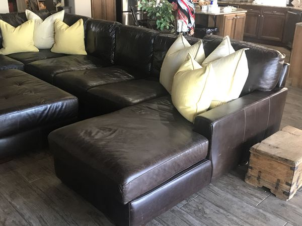 Astonishing Mayfair Deluxe Brompton Leather Sectional For Sale In Pdpeps Interior Chair Design Pdpepsorg