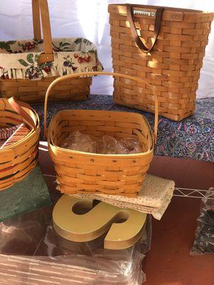 Longaberger baskets 5 for Sale in Roseville, CA