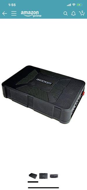 Kicker subwoofer and amplifier hideaway like new for Sale in Phoenix, AZ
