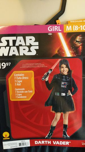 Girl costume Star wars Darth Vader medium 8 to 10 for Sale in Lakeville, MN