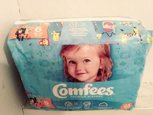 Size 6 Comfees Diapers for Sale in Midlothian, IL