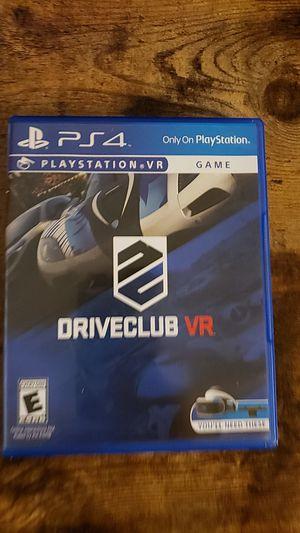 Driveclub vr psvr for Sale in Austin, TX