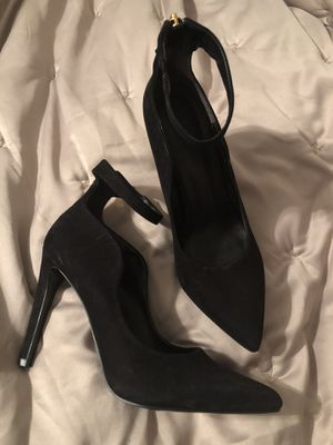 Arricci Black Heels with ankle strap Made in Brazil, size 8.5 for Sale in Beaverton, OR