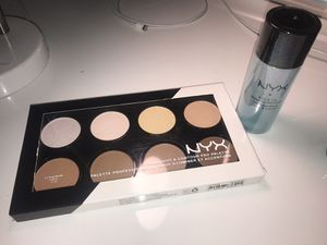 NYX eye & lip makeup remover + NYX highlight & contour pro palette for Sale in March Air Reserve Base, CA