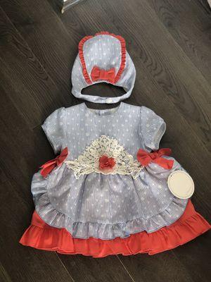 Dolce petit set dress and bonnet size 18 for Sale in Vienna, VA