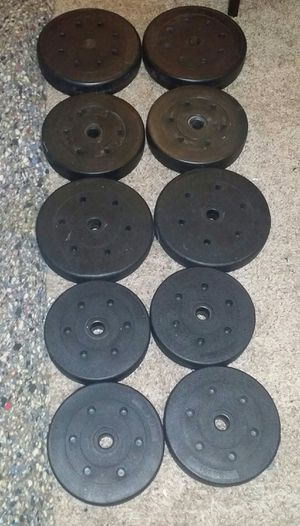 Weights vinyl 140lbs. 2x20lbs, 4x15lbs, 4x10lbs. for Sale in Deerfield Beach, FL