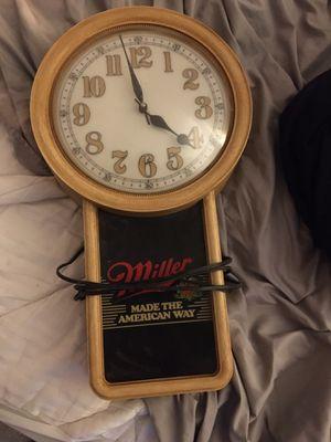 Miller high life beer clock for Sale in Fresno, CA