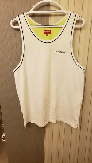 Supreme SS20 Piping Tank top White/yellow Size Medium. for Sale in Everett, WA