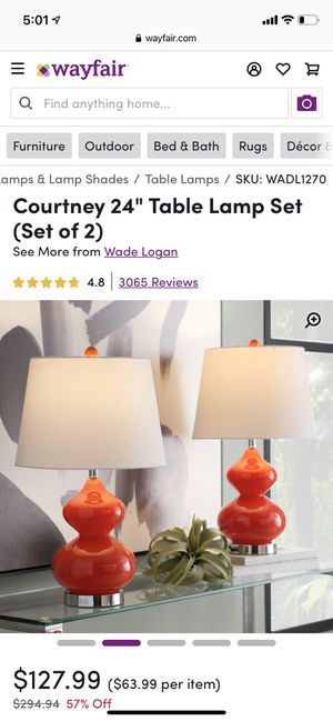 Lamp Set (2) for Sale in Washington, DC