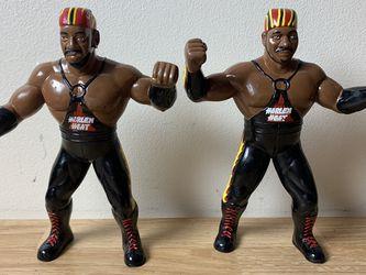 WWF LJN WCW TAG TEAM HARLEM HEAT BOOKER T & STEVIE RAY 1994 OSFTM WRESTLING FIGURE SERIES 3 for Sale in Morristown,  NJ