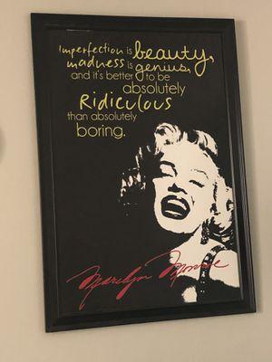 Marilyn Monroe giant Framed poster for Sale in Phoenix, AZ