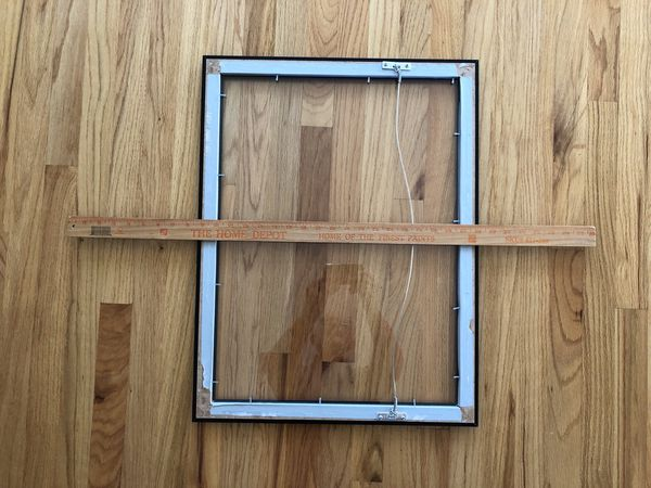 Picture frame with conservation clear glass