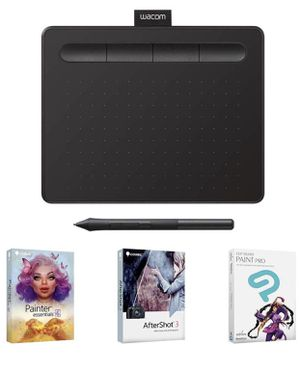 """Wacom Intuos Graphics Drawing Tablet with 3 Bonus Software included, 7.9""""x 6.3"""", Black (CTL4100) for Sale in South El Monte, CA"""