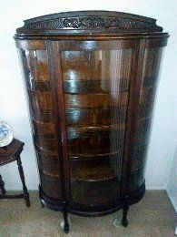 Antique Bowed Front Curio for Sale in Las Vegas, NV