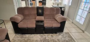 Reclining love seat couch/sofa for Sale in Hemet, CA