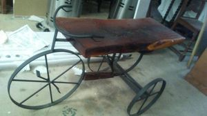 Beautiful handcrafted plant or knick knack stand w/ mesquite top for Sale in Adkins, TX
