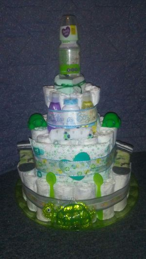 Turtle diaper cake for Sale in Thonotosassa, FL