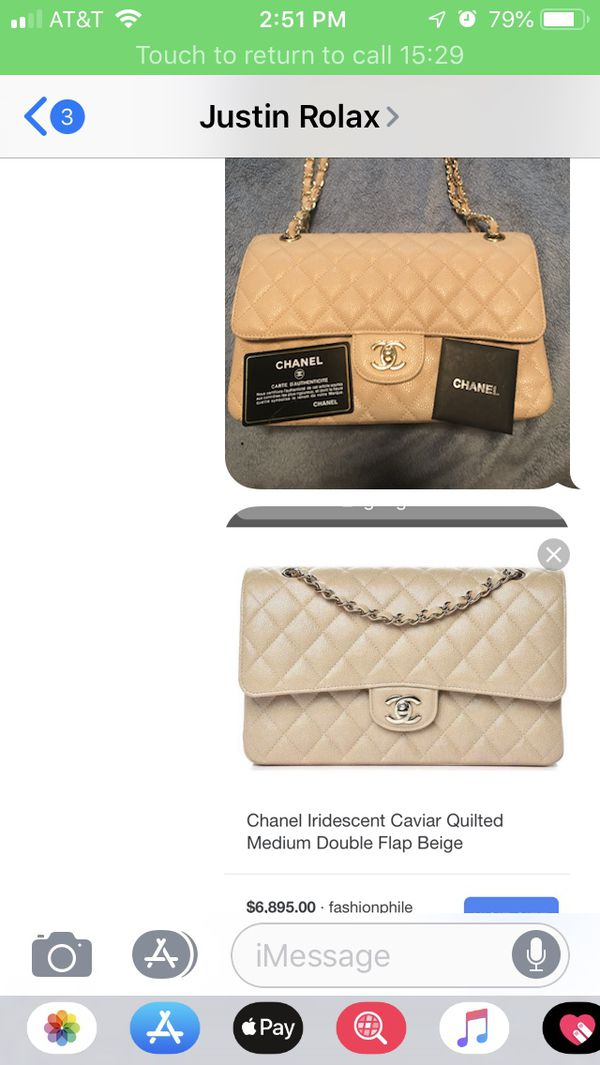 Chanel bag only 3 months old