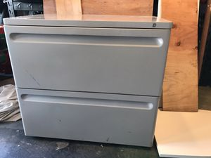 Commercial Heavy Duty Two Drawer Filing Cabinet Height for Sale in Morristown, NJ