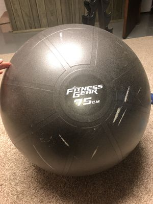 75cm Exercise Ball with Pump for Sale in Bettendorf, IA