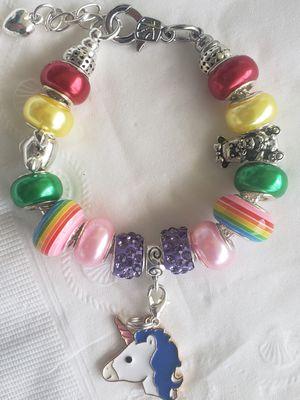 Little Girl unicorn charm bracelet for Sale in Baltimore, MD