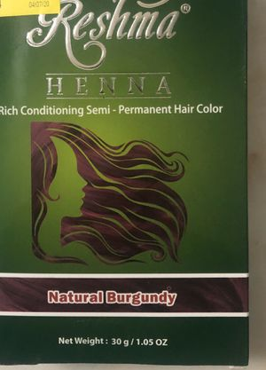Reshma Henna Rich Conditioning Semi Permanent Hair Color Natural Burgundy for Sale in Hollywood, FL