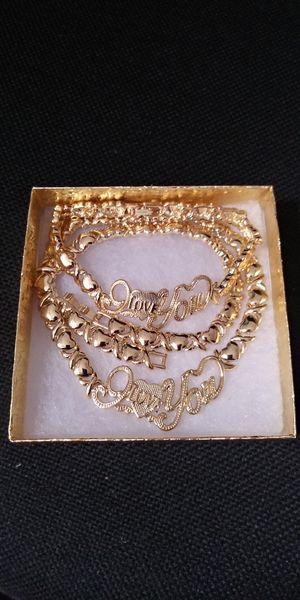 🚗🚗I deliver....😍😍14kt Gold filled 💖📿necklace and bracelet wont fade nor tarnish🚕🚕🚕 for Sale in Fort Lauderdale, FL
