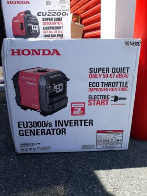 Honda generator eu3000is for Sale in New York, NY