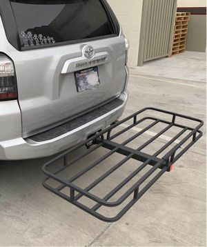 New in box XL large 62x23x5 inches 2 inch receiver mount hitch mount travel luggage basket rack 500 lbs capacity with pin for Sale in Santa Fe Springs, CA