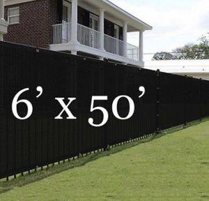 Black 50x6ft Privacy Fence Screen Mesh for Sale in Pomona, CA