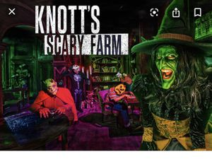 KNOTTS SCARY FARM TICKETS !!!!!!!! for Sale in Buena Park, CA