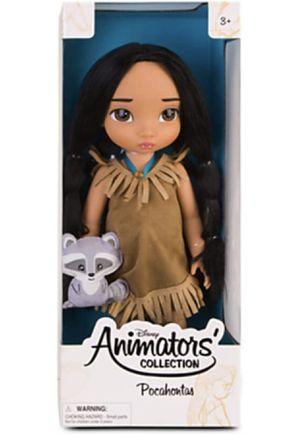 "Disney Princess Animators' Collection Todller 16"" Doll Pocahontas with Plush Friend Mekko for Sale in El Monte, CA"