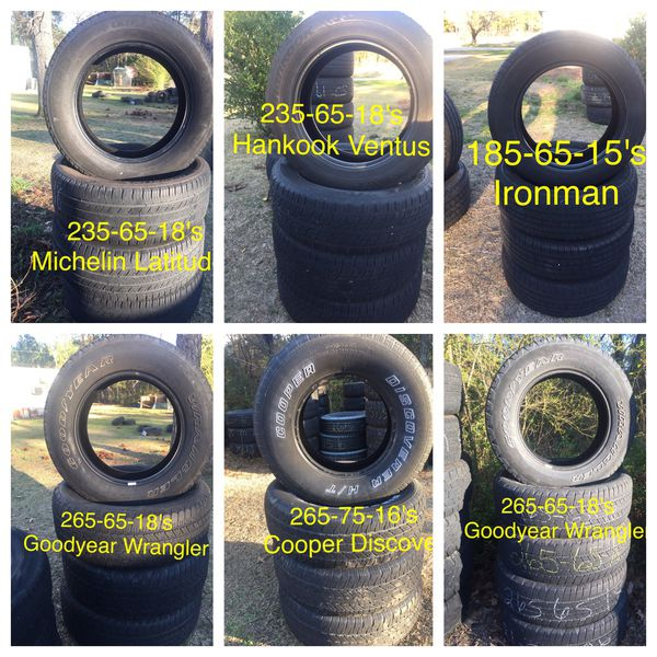 All Sets Of 4 Tires On Sale For $80 For Sale In Aberdeen