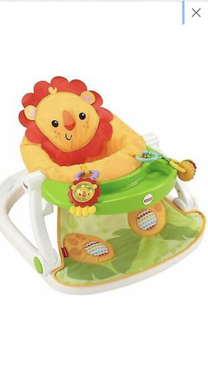Fisher Price Sit-me-up Lion Floor Seat With Tray for Sale in Saint Germain, WI