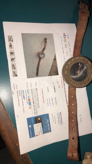 Origenal WW2 US Army wrist compass with Original Leather Strap for Sale in Wenatchee, WA