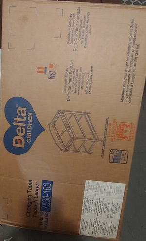 New Delta baby changing table. for Sale in Philadelphia, PA