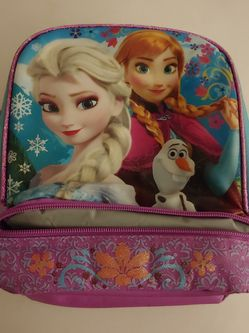 Disney Kids Frozen II Dual Compartment Drop Bottom Lunch Bag For Girls for Sale in North Las Vegas,  NV