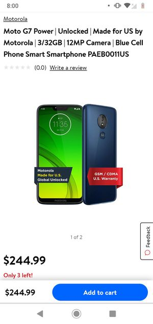 Motorola g7 power MetroPCS for Sale in Pasco, WA