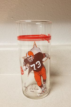 1981 WENDY'S CLEVELAND BROWNS DOUG DIEKEN COLLECTIBLE GLASS for Sale in Scottsdale, AZ