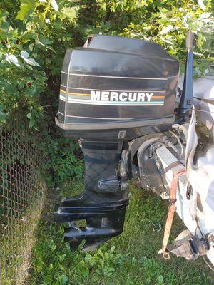 91 mercury 40 hp tiller outboard motor long shaft for Sale in Elk Grove Village, IL