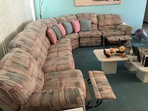 Sectional with 2 Recliners and sleeper like new for Sale in Southwest Ranches, FL