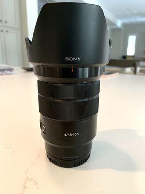 Sony E PZ 18-105mm f/4 G OSS Lens for Sale in Las Vegas, NV